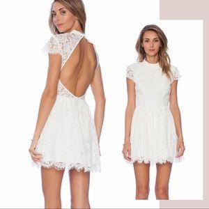 Keepsake the Label Ivory Lace Eclipse Mini Dress